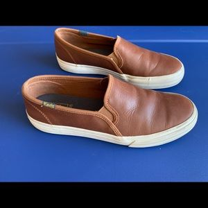 Keds Double Decker leather cognac